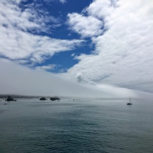 Marine Clouds Over Sailboat, Oregon