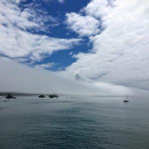 Marine Clouds Over Sailboat, Oregon